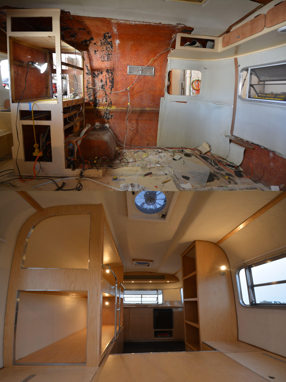 Salt lake city interior designers - Boler Interior Before And After By Camper Reparadise Vintage Trailer Restoration In Salt Lake City Ut