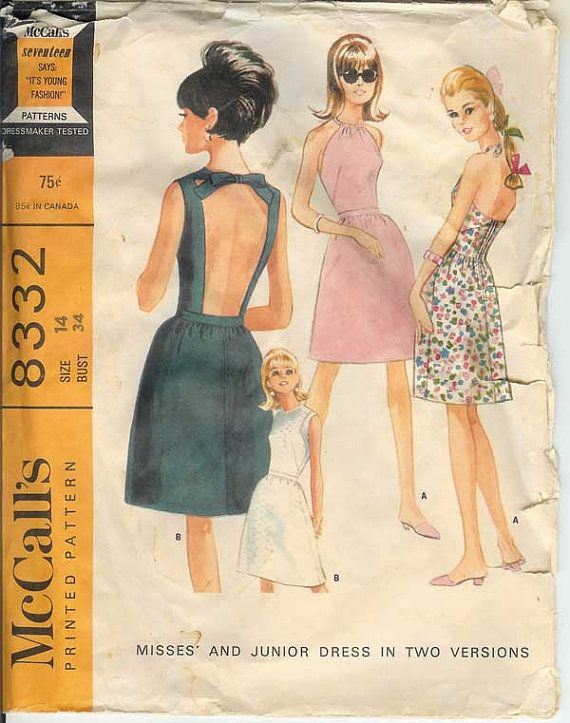 92481b3a901b Rare McCall s 8332 Vintage 60s Cut Out Peekaboo by AbbyandSophia. I have  this pattern and I made it up in Polyester Double Knit.