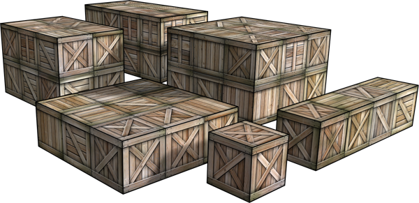 Wooden Crates Paper Terrain Kit | Dave's Games | art station ...