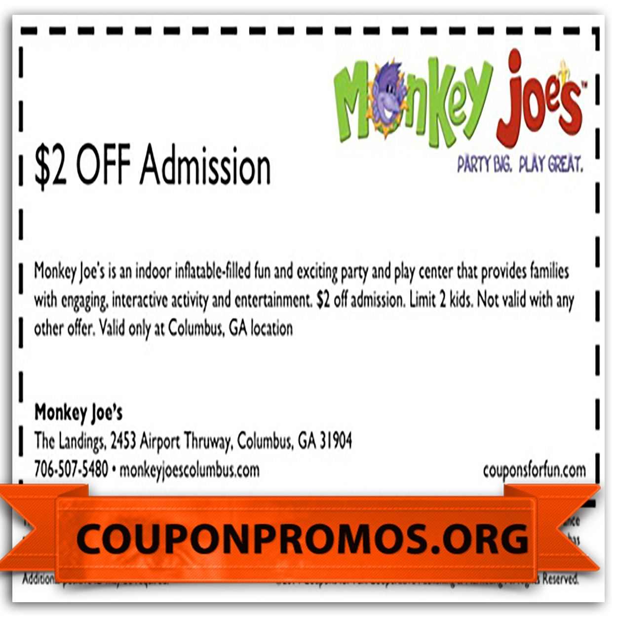photograph regarding Monkey Joes Coupons Printable called printable low cost coupon codes for monkey joes for January