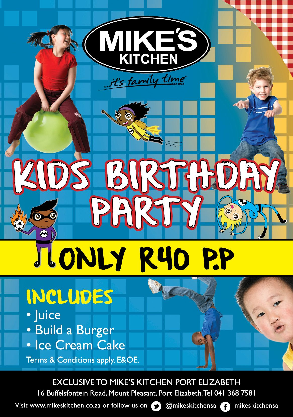 Mike\'s Kitchen Port Elizabeth Our Team Menu for only R50 | Mike\'s ...