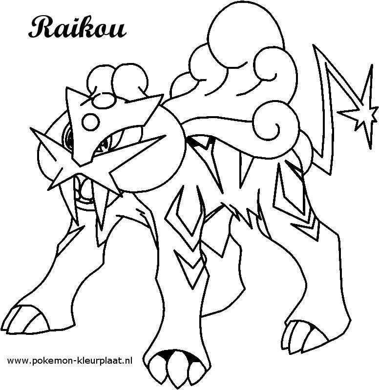 Raikou kleurplaat pokemon original