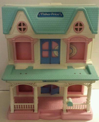 Vintage 1993 Fisher Price Loving Family Dream Doll House 6364