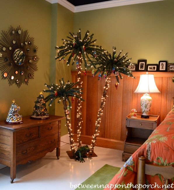 Terrace Level Bedroom With Palm Tree Decorated For Christmas My Future New Home