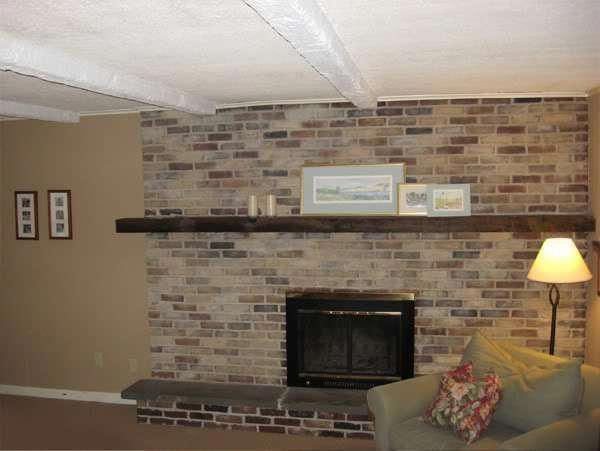 Good Screen tall Brick Fireplace Style  Terrific Pic tall Fireplace Remodel Tips  I like this striking photo #Fireplacesurround #Fireplace  #Brick #Fireplace #Good #Screen #Style #tall