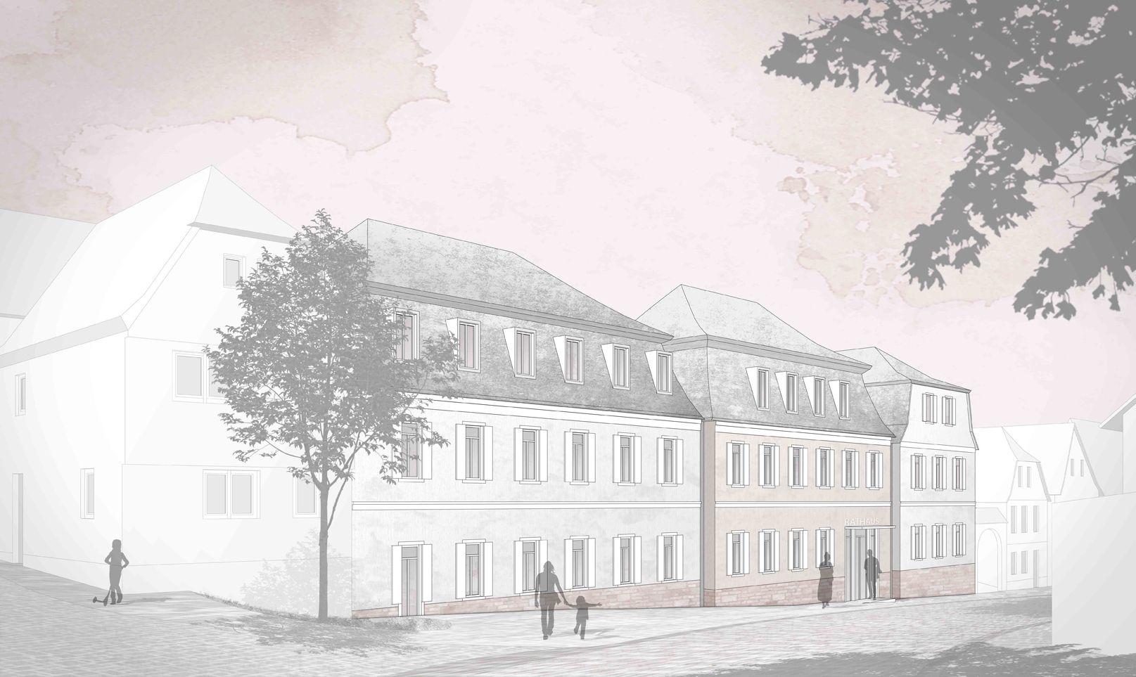 schaudt architekten & Planstatt Senner (2015): Neubau des Rathauses Markt Euerdorf (DE), via competitionline.com