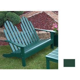 Prairie Leisure Design 35-In W X 50-In L Hunter Green Pine Patio Bench