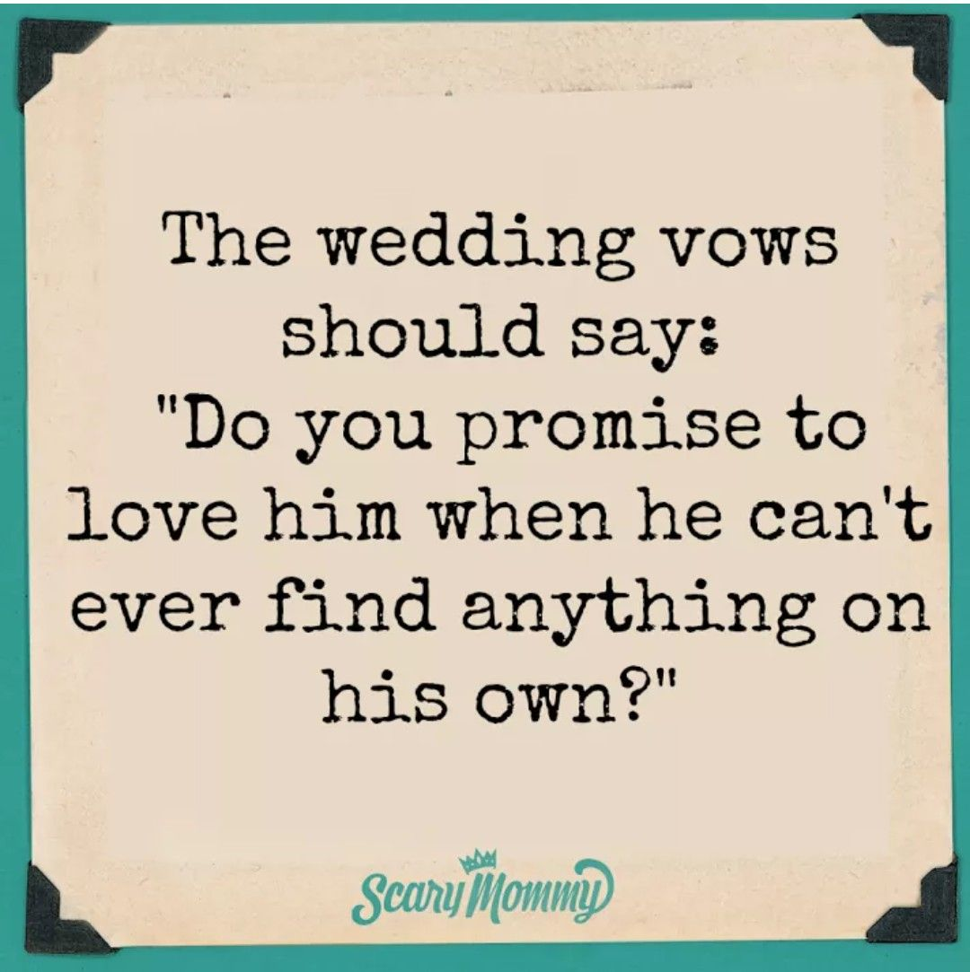 Wedding vows B&D Funny wedding vows, Couple quotes funny