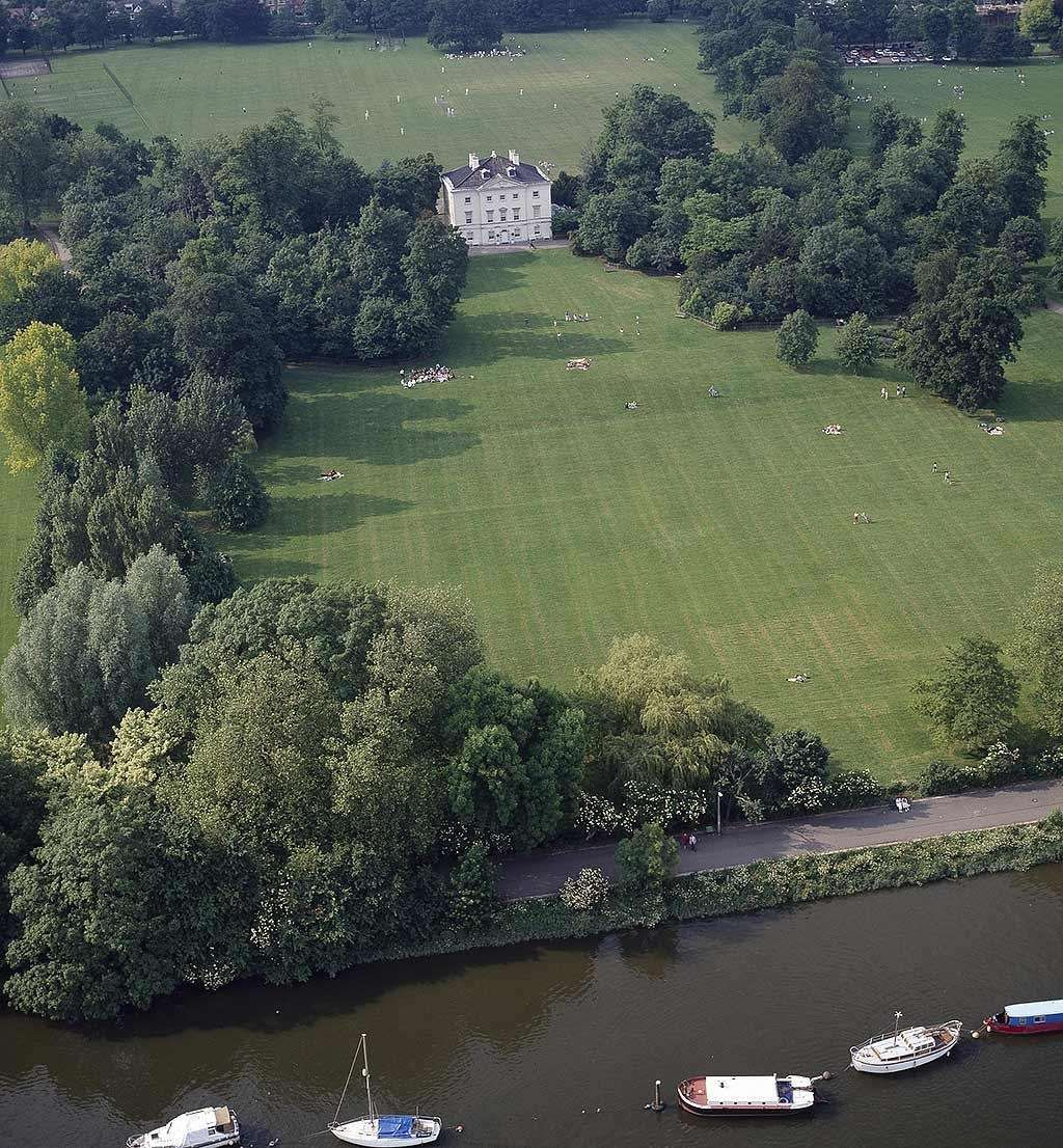 Marble Hill House And Park Seen From The Air With The River Thames In The Foreground Marble Hill House English Landscape Garden Marble Hill