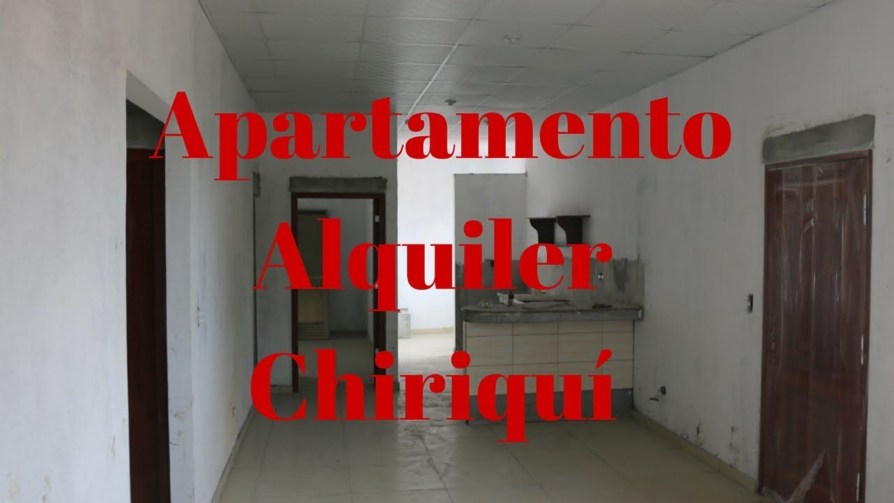Alquiler de apartamentos en el centro de David. Chiriquí.