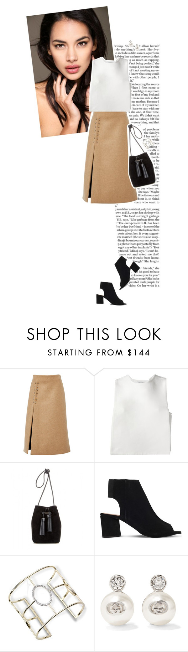 """""""Bucket bag"""" by maya20076 ❤ liked on Polyvore featuring Nicki Minaj, Sally Lapointe, J.W. Anderson, Tom Ford, KG Kurt Geiger and Gucci"""