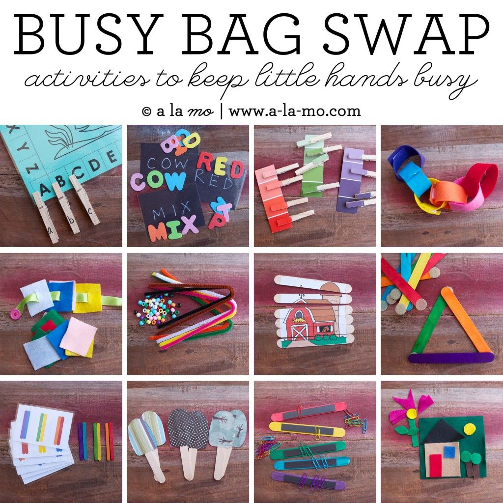 Tips for hosting a Busy Bag Swap along with a roundup of ideas for