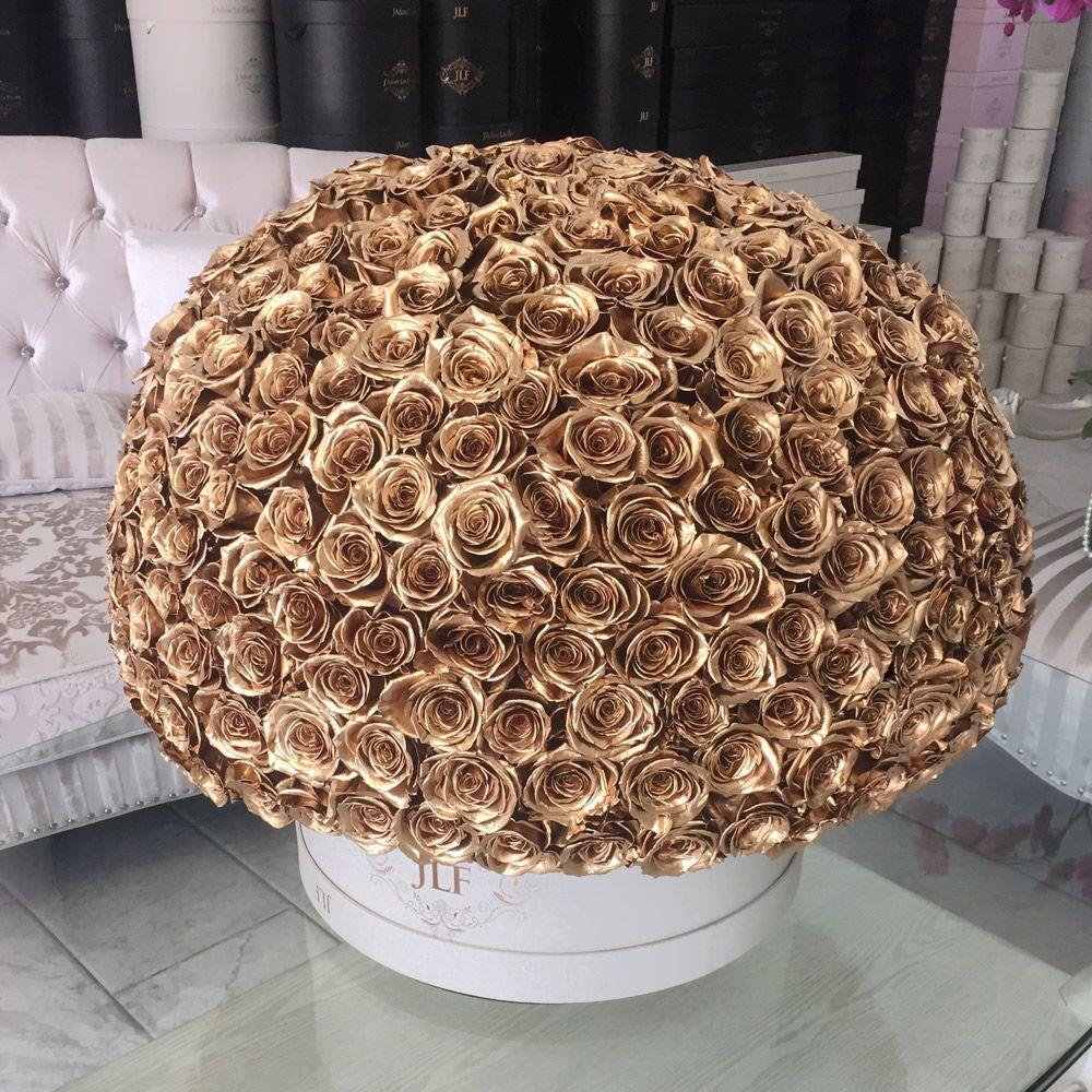 Grandiose 400 gold rose box jlf flower boutique in los