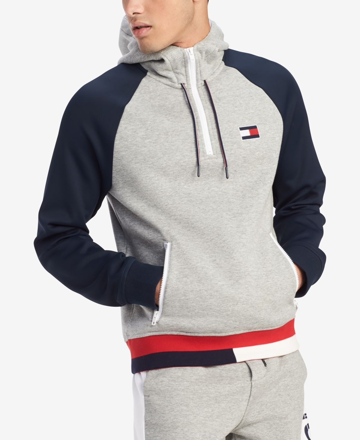 Tommy Hilfiger Men's Big & Tall Logo Graphic Hoodie