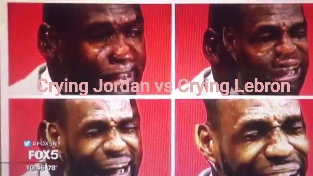 CRYING MICHAEL JORDAN MEME VS CRYING LEBRON JAMES MEME