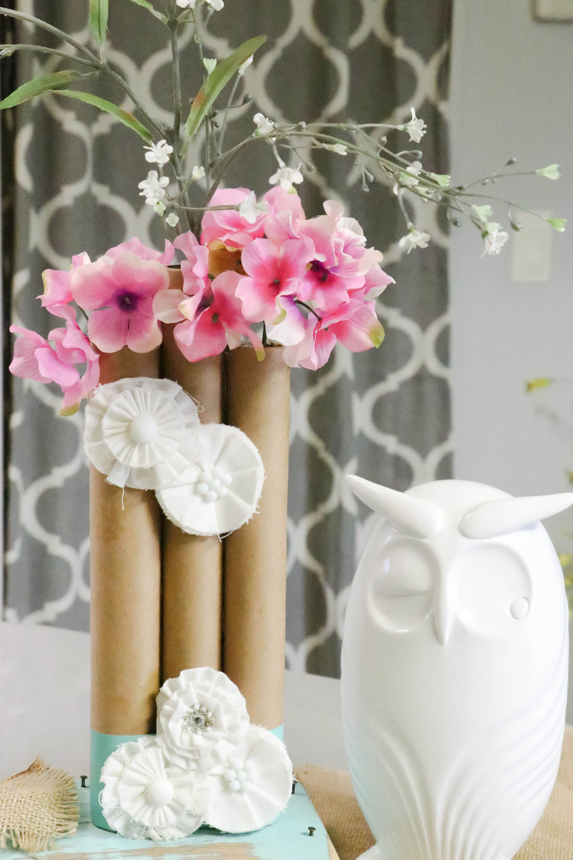 Paper Towel Roll Vases Woodworking christmas gifts