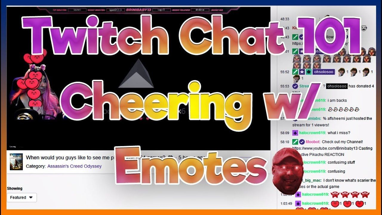 Cheering w/ Emotes! Get more from your bits Twitch Chat