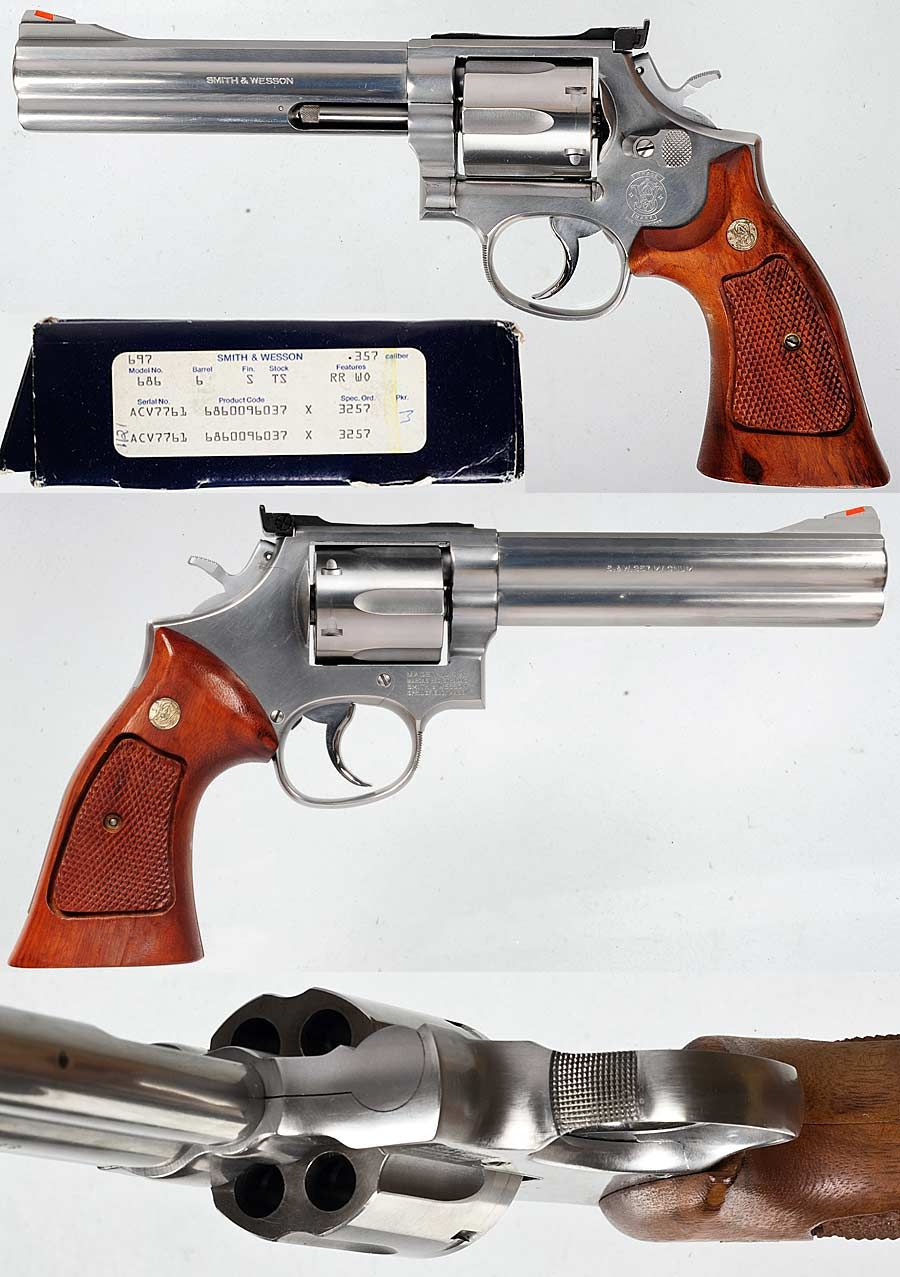 S&W Smith & Wesson model 686 6 inch CUSTOM .357 Magnum revolver .357 ...