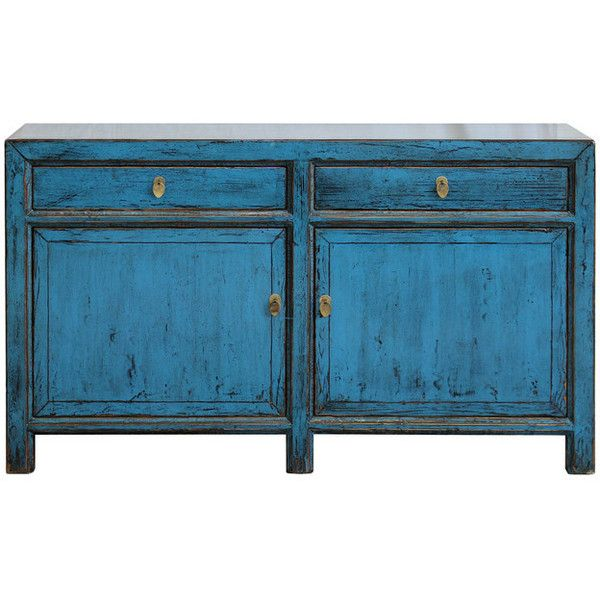 Door Blue Sideboard - Asian - Buffets And Sideboards - other metro ... ❤ liked on Polyvore featuring home, furniture, storage & shelves, sideboards, asian influenced furniture, asian furniture, oriental buffet, asian buffet and blue furniture