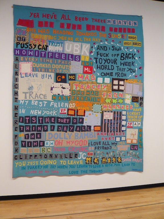 Tracey Emin - but I think she has quilters sew it together for her ... : tracey emin quilts - Adamdwight.com