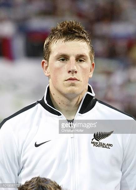 Chris Wood of New Zealand during the National Anthem before the International Friendly match between Slovenia and New Zealand at the Stadion Ljudski...