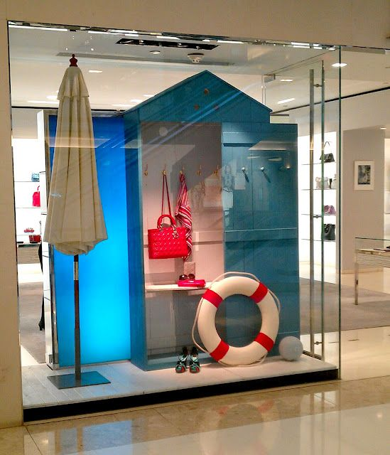 Window Display - Dior (SS12)  This could be doable with cardboard and poster board? I really like this. Maybe for summer?