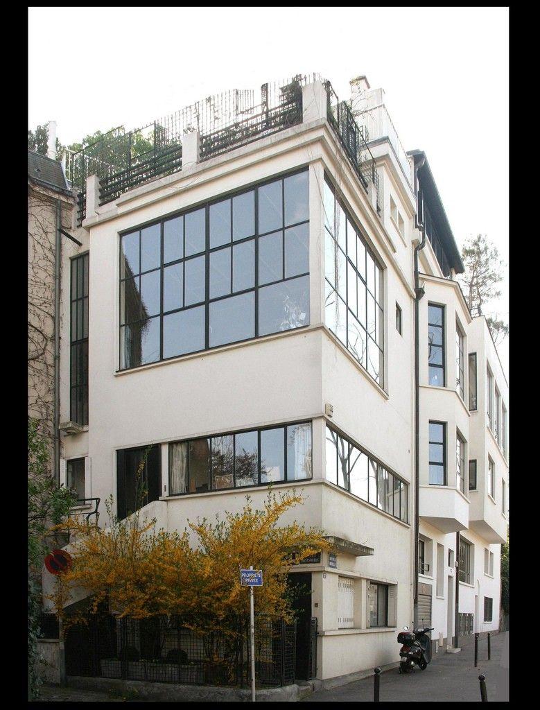 Maison atelier du peintre ozenfant 1922 paris xiv le for Architecture le corbusier