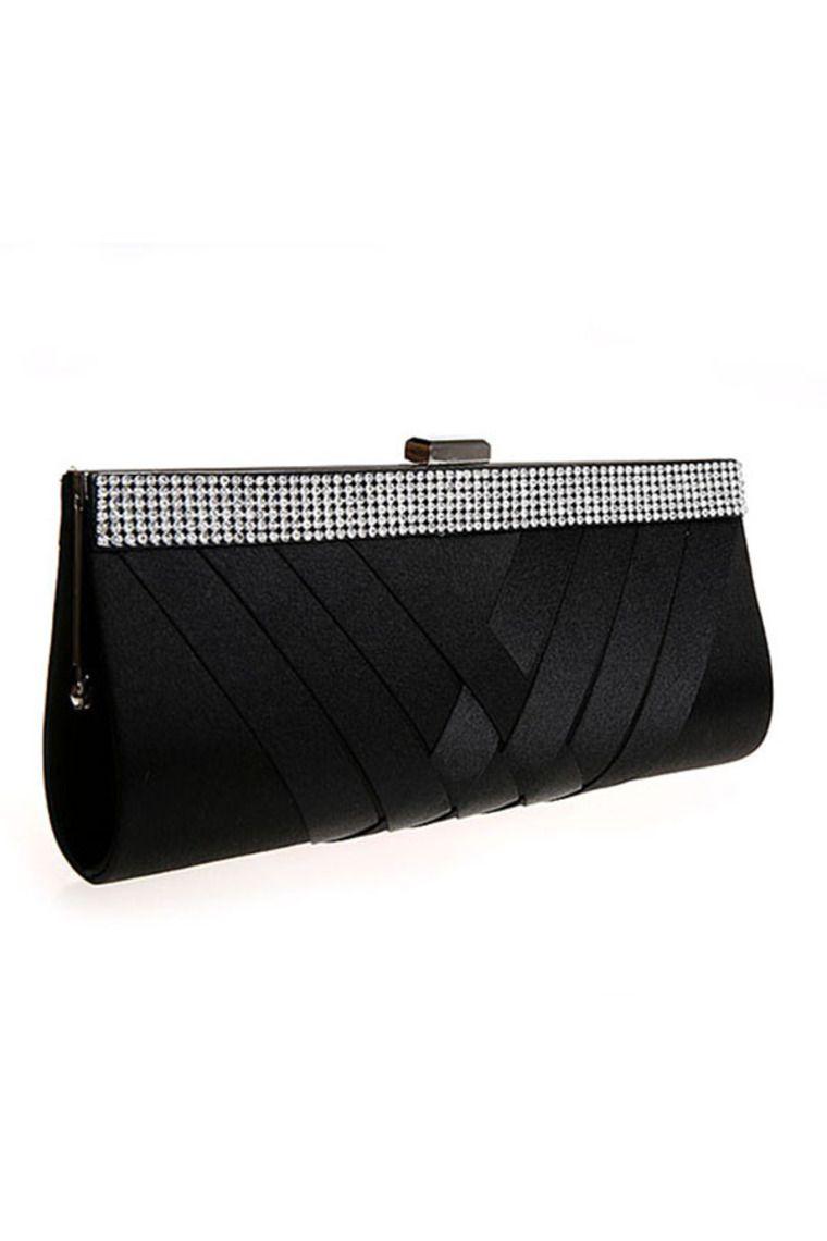 Negro simple del diamante del estilo bolso