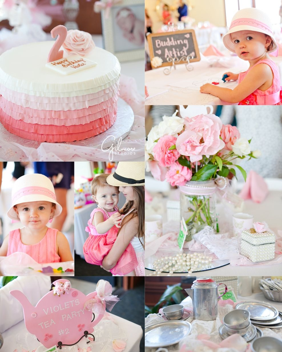 2nd birthday tea party in newport beach, girl birthday party, tea