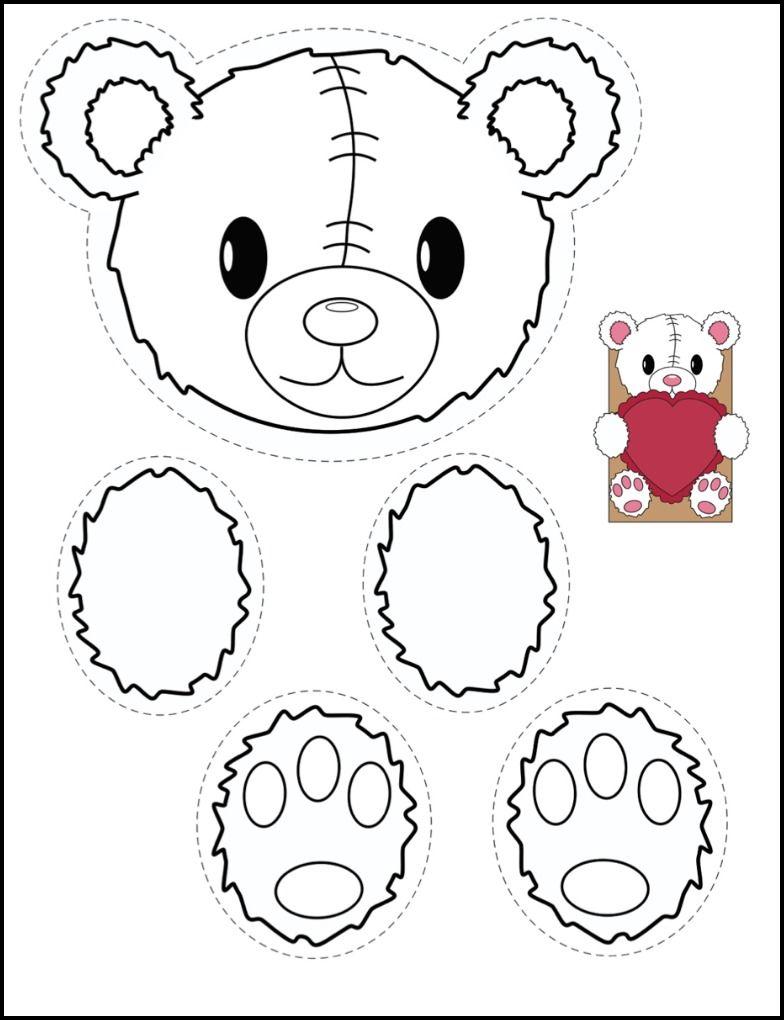 bear and bunny printables for creating classroom valentine bags kinderland collaborative. Black Bedroom Furniture Sets. Home Design Ideas