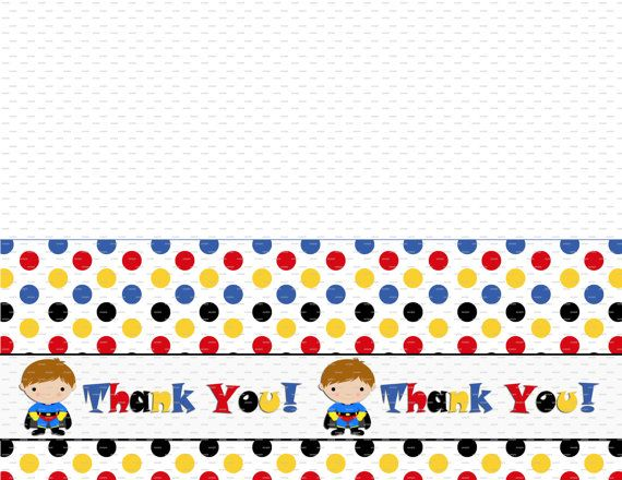 super hero printable folding thank you note matches our superhero