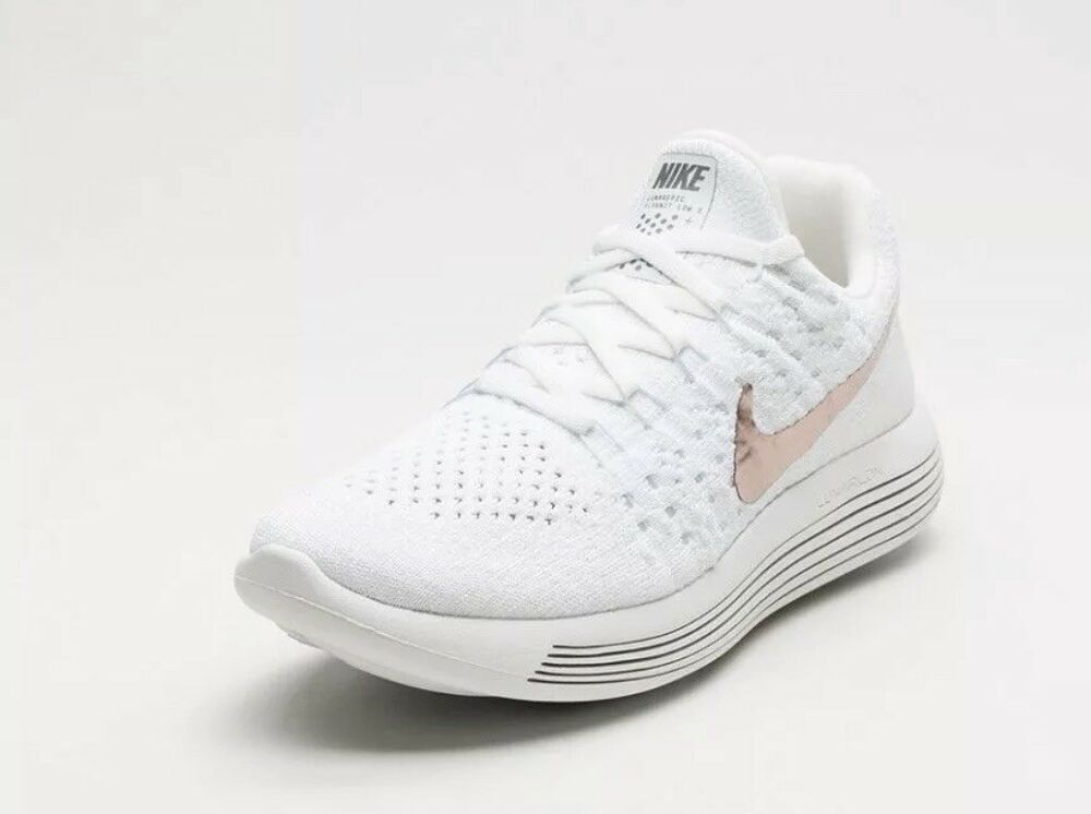 be83fc6ab1f34 Nike Lunarepic Low FK 2 X-Plore Sz 8.5 White/mtlc Red Bronze 904743 ...