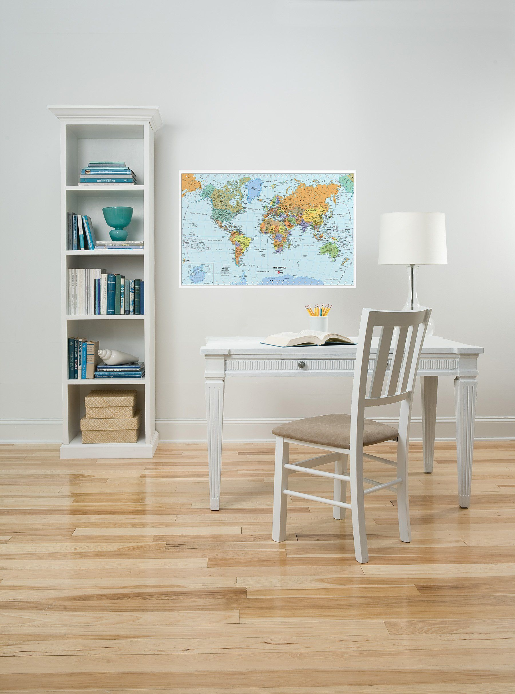 Peel stick world dry erase map with marker 1159 at amazon brewster wall pops peel stick world dry erase map with marker gumiabroncs Image collections