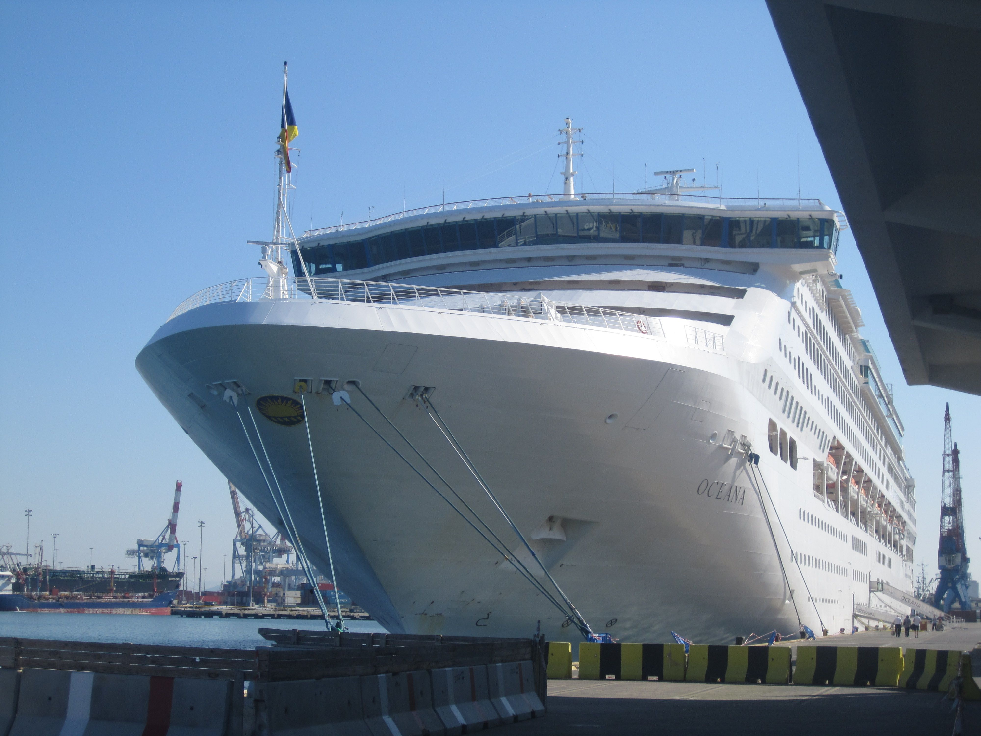 Oceana docked in Haifa #cruise #cruiseblog #travel #wanderlust #lovetravel #cruiselife #visioncruise #seethedifference #cruisetv #travelbloggers #cruisedeals #d…
