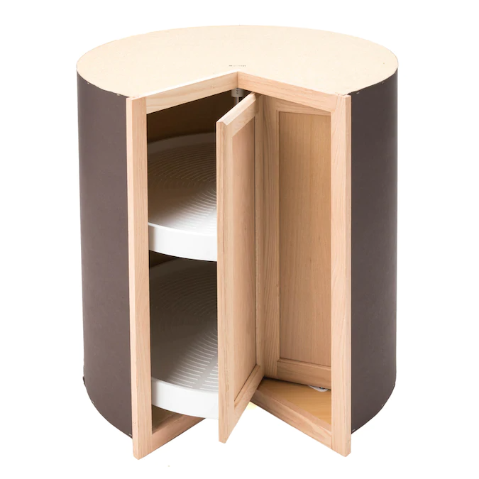 Project Source 36 In W X 35 In H X 23 75 In D Unfinished Unfinished Lazy Susan Corner Base Stock Cabinet Lowes Com Stock Cabinets Lazy Susan Unfinished Cabinets