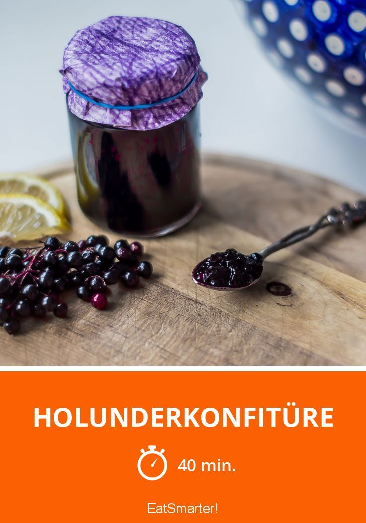 chia holunderkonfit re rezept marmelade elderberry. Black Bedroom Furniture Sets. Home Design Ideas
