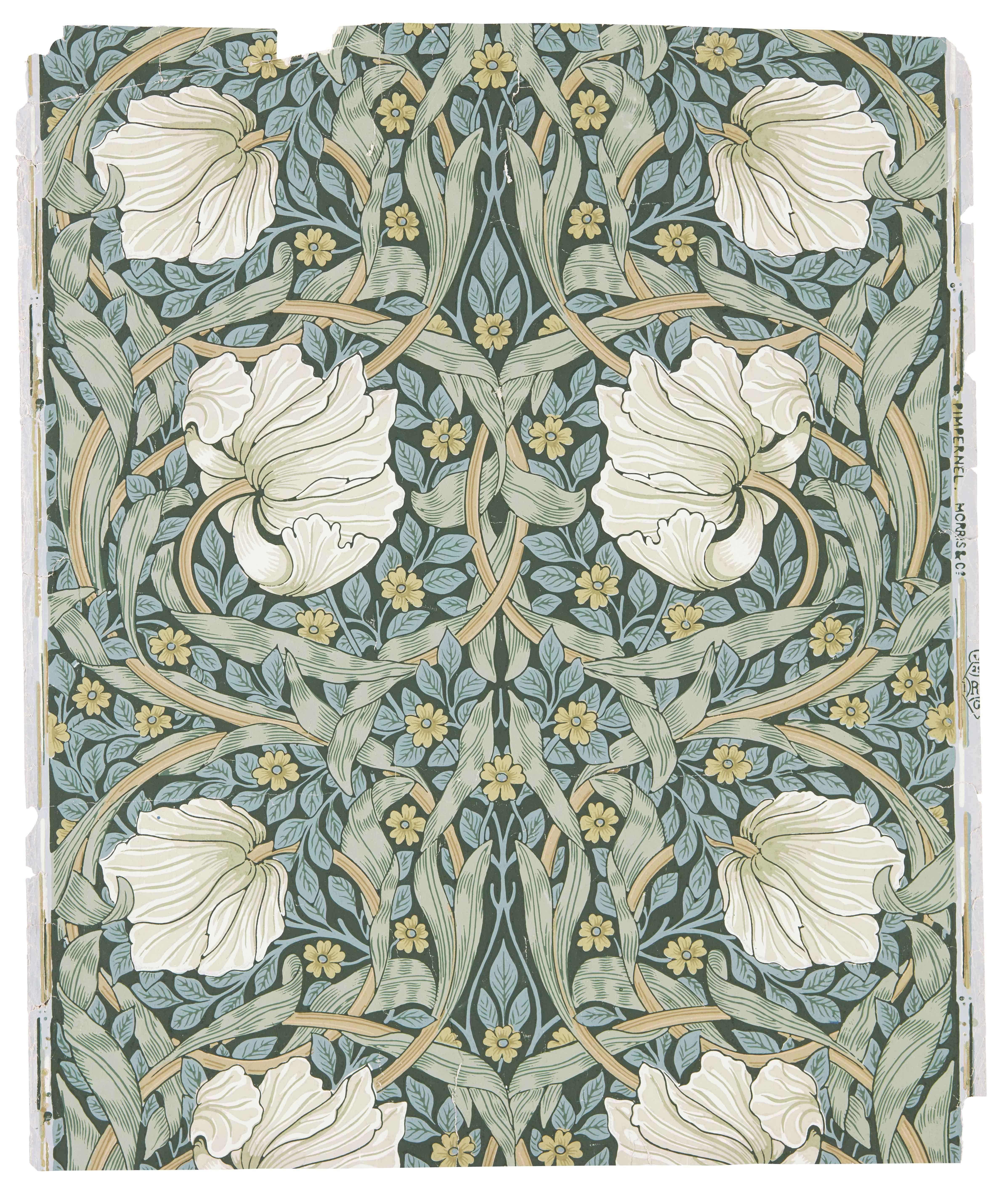 Morris Co Gancedo William Morris Flores Wallpaper Arte De La Pared De Mosaico