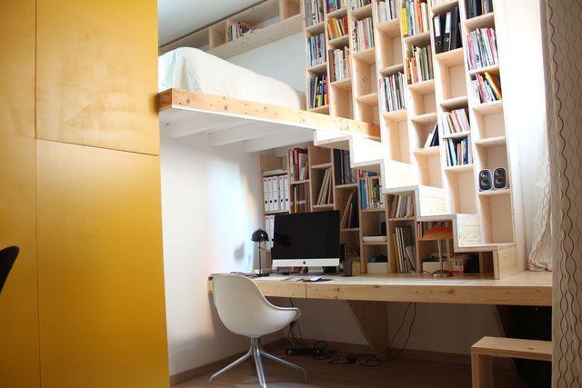 Bibliothèque : meuble multifonction | Mur porteur, Mur et La ...