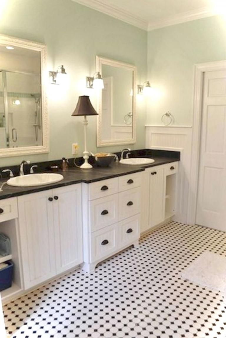 40 Luxury Black And White Bathroom Ideas Page 28 Of 40 Black White Bathrooms Black And White Tiles Bathroom White Bathroom Tiles