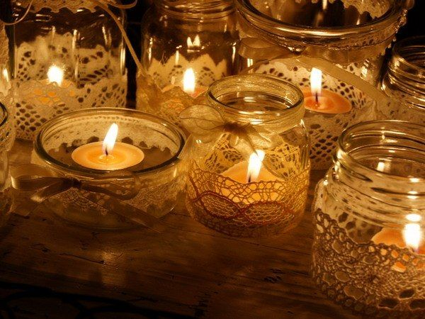 Decorating Jars With Lace Captivating Decorating Jars Or Candle Holders With Lace Ribbon  Candles Review
