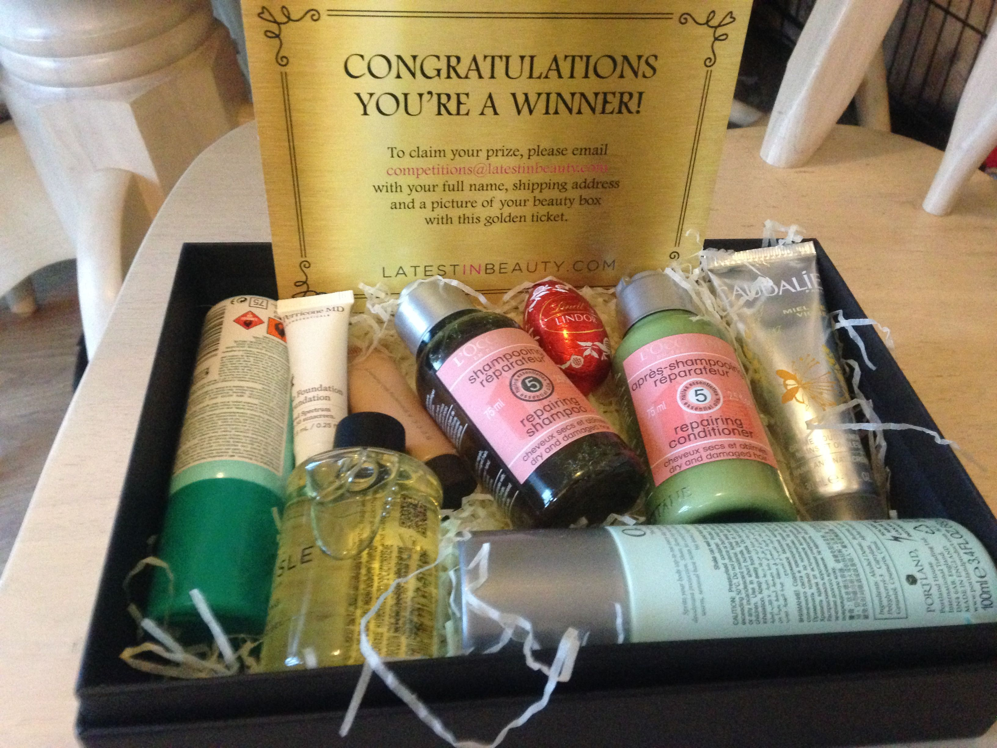 Congratulations Victoria! #GoldenTicket #Whatsinyourbeautybox? #Latestinbeauty