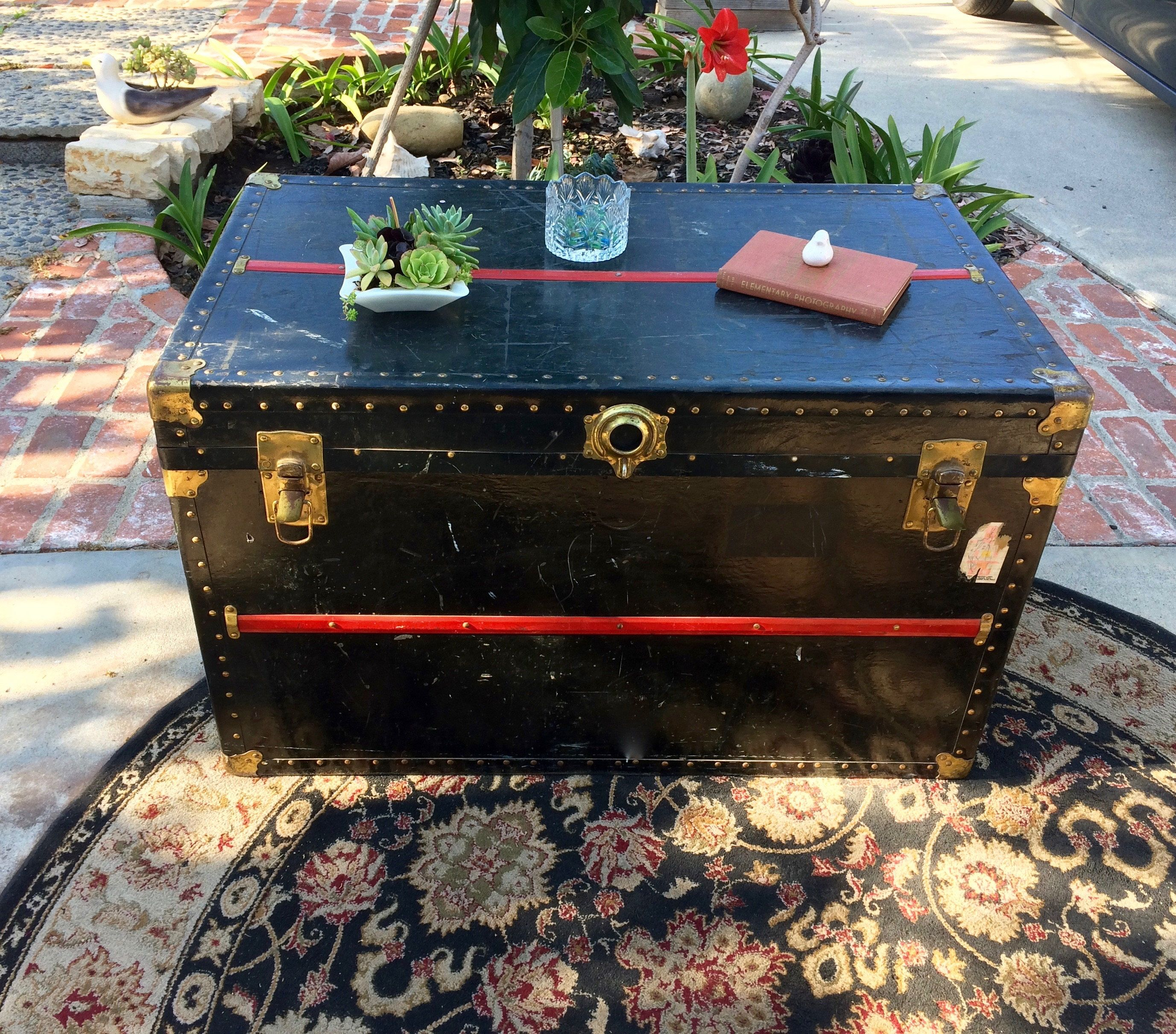 Steamer Trunk Antique Trunk Coffee Table Steamer Trunk Coffee