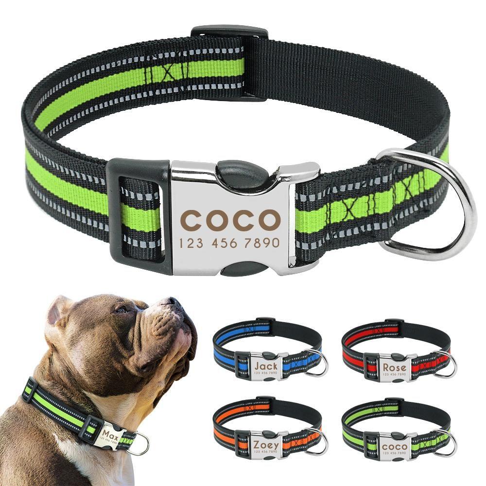 Customized Stylish & Safe Reflective Dog Collar ON SALE