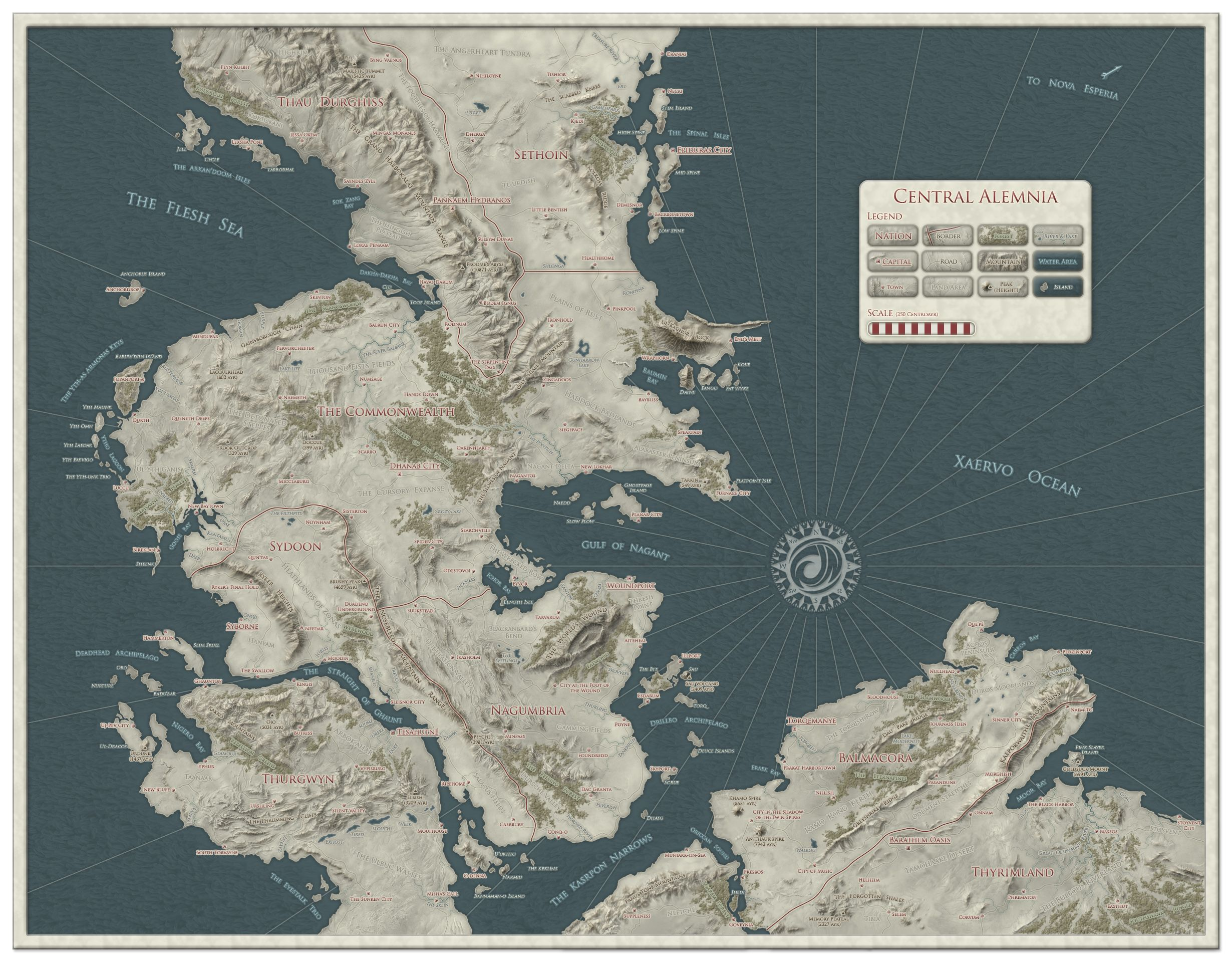 Cartographers' Guild - Central Alemnia by Daelin | Fantasy ... on salem world map, tolkien world map, the witcher world map,
