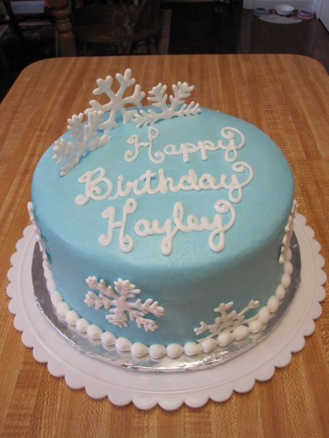 Winter Snowflake Cake Birthday Cake Made For January Winter