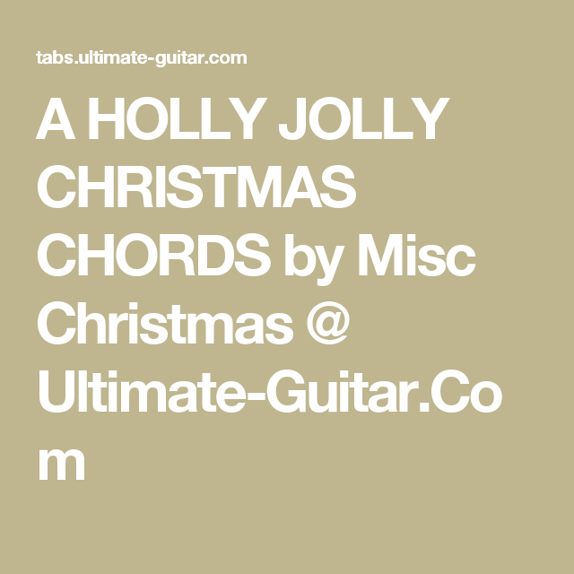 Christmas Songs Chords Ultimate Guitar - Beautiful Women
