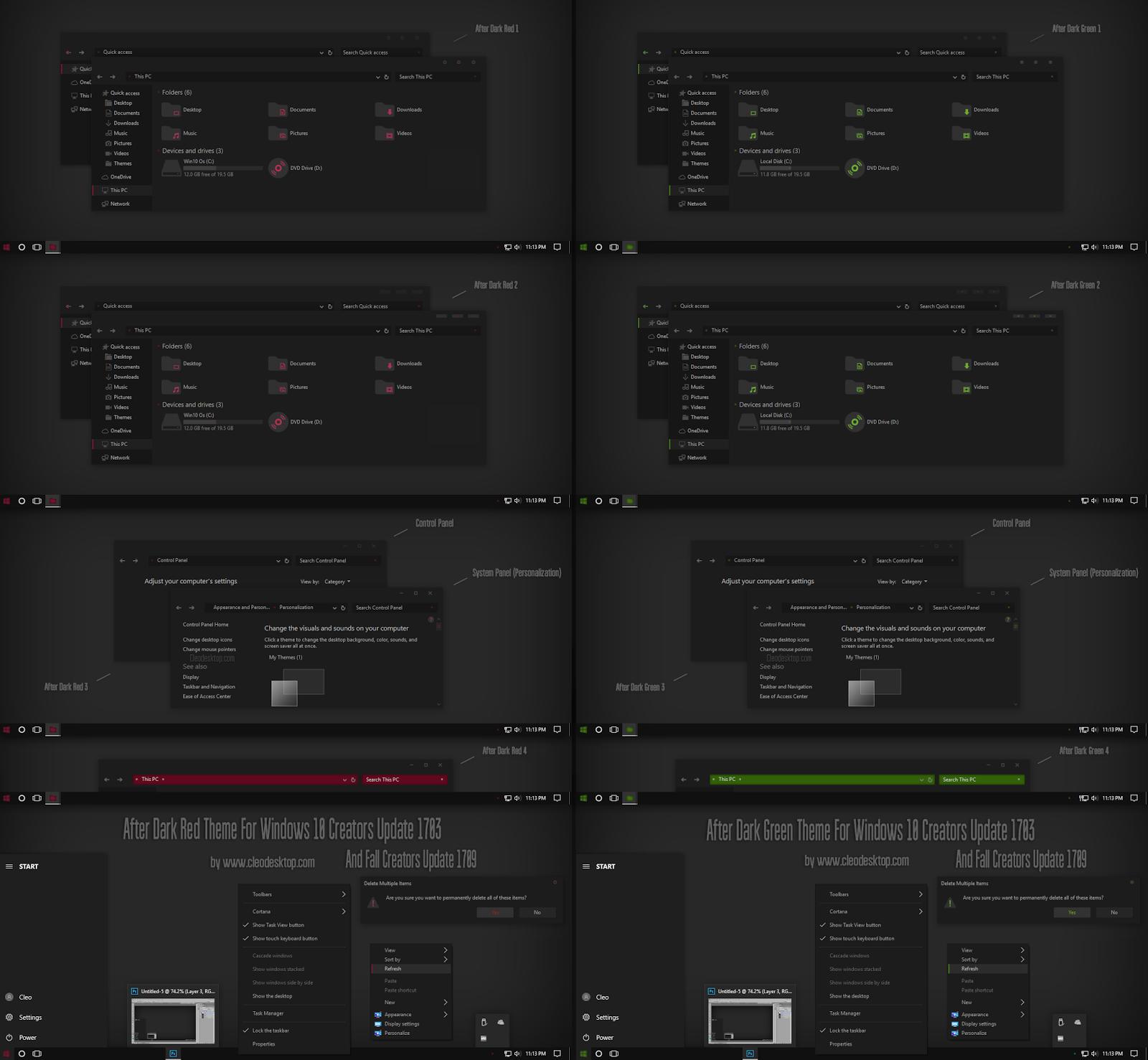 Make Nice Desktop Theme Win 10, Theme Win 7, Theme Win 8