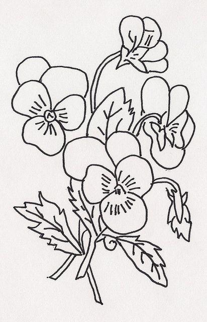 rasane sepoh kleurplaat viooltjes