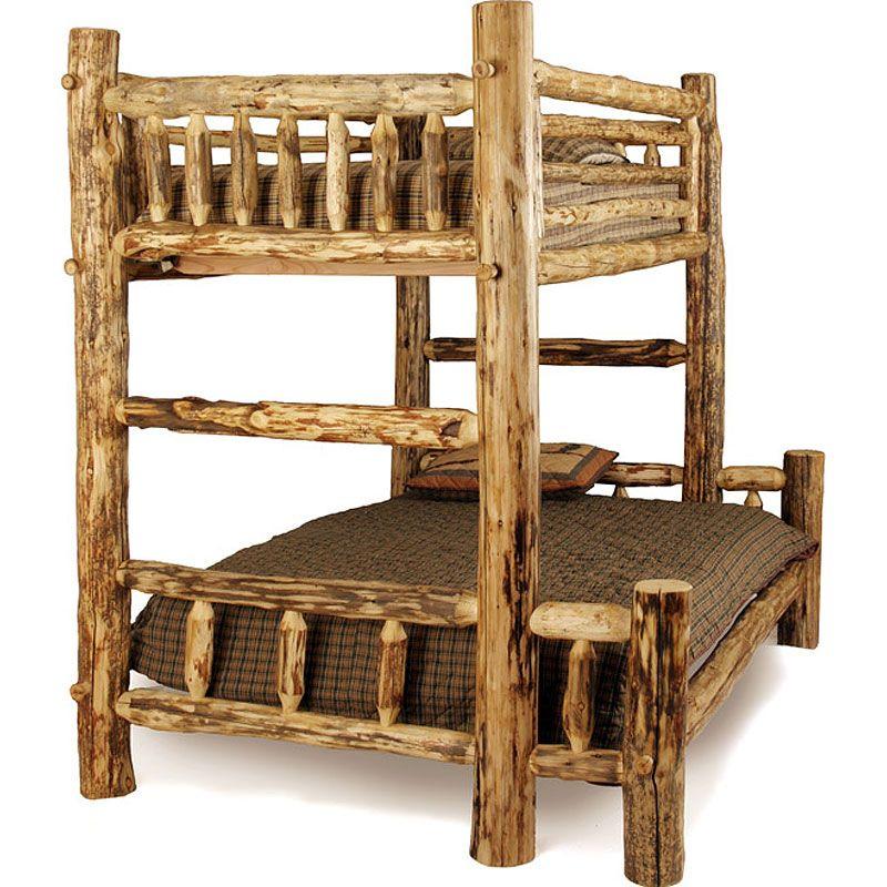 Aspen Log Western Bunk Bed Log bunk beds, Rustic bunk