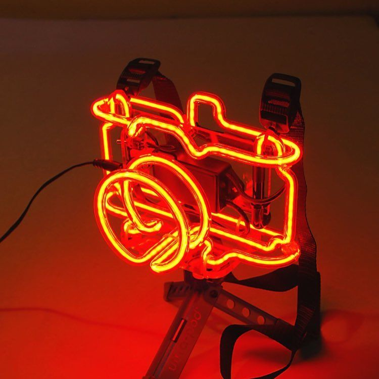 We're totally in love with this 3D neon camera by